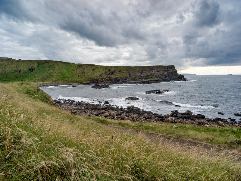 Scenic view of the coast, Giant's Causeway, County Antrim, Northern Ireland, Ireland
