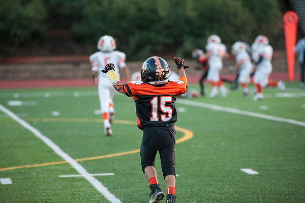 Roseville Jr Tigers Pee Wee vs Woodland 2nd Round Playoffs 11-14-15