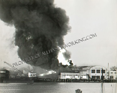 Bridgeport, CT City Lumber Fire 1949