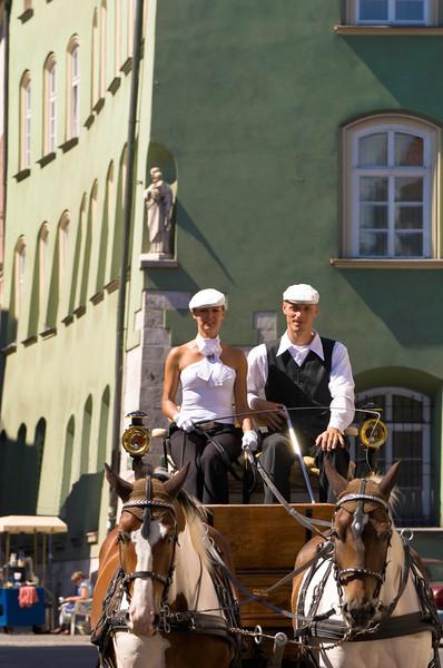 Poland, Cracow, horse drawn carriage