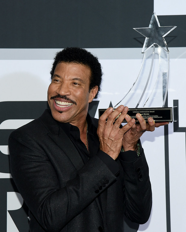 . Singer Lionel Richie poses in the press room during the BET AWARDS \'14 at Nokia Theatre L.A. LIVE on June 29, 2014 in Los Angeles, California.  (Photo by Michael Buckner/Getty Images for BET)