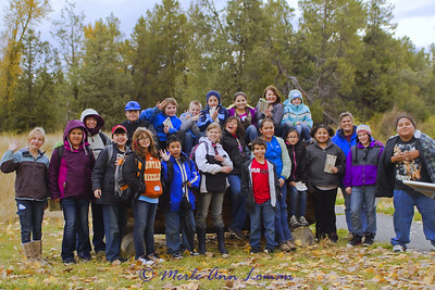 Arlee 5th grade at Bison Range, Oct 2011