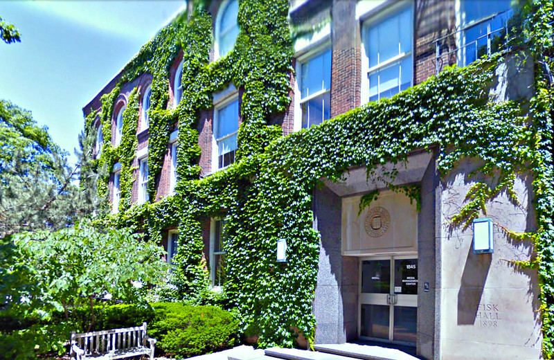 21-Fisk Hall, Medill School of Journalism, at Northwestern. Marian went to school here. (Google Streetview)