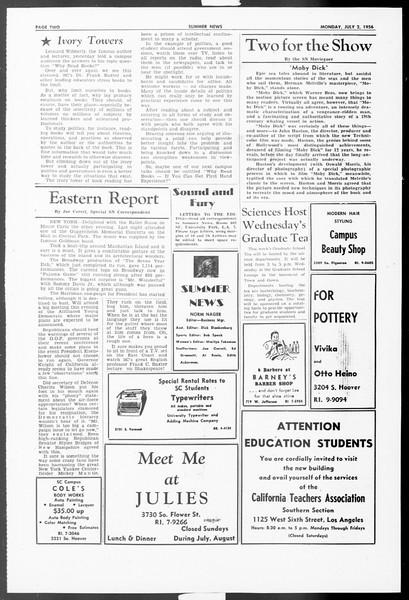 Summer News, Vol. 11, No. 3, July 02, 1956