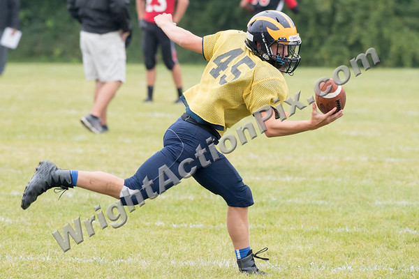 2017 08 17 Clarkston JV Football Scrimmage vs Grand Blanc, St. Marys and Cass Tech