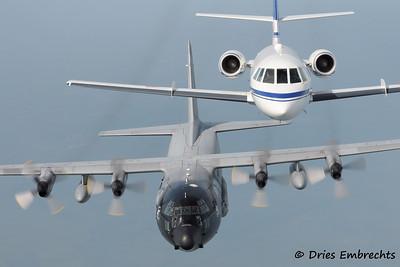Air2Air BAF 40 years C-130H and Falcon 20