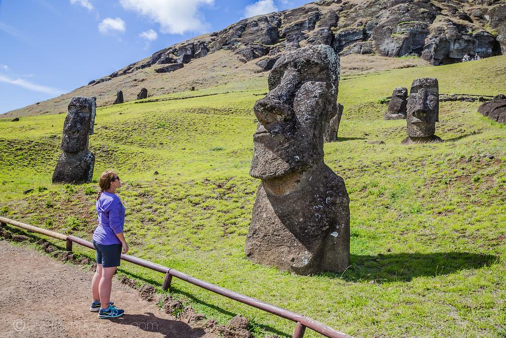 Easter Island Heads - Rano Raraku - Lina Stock