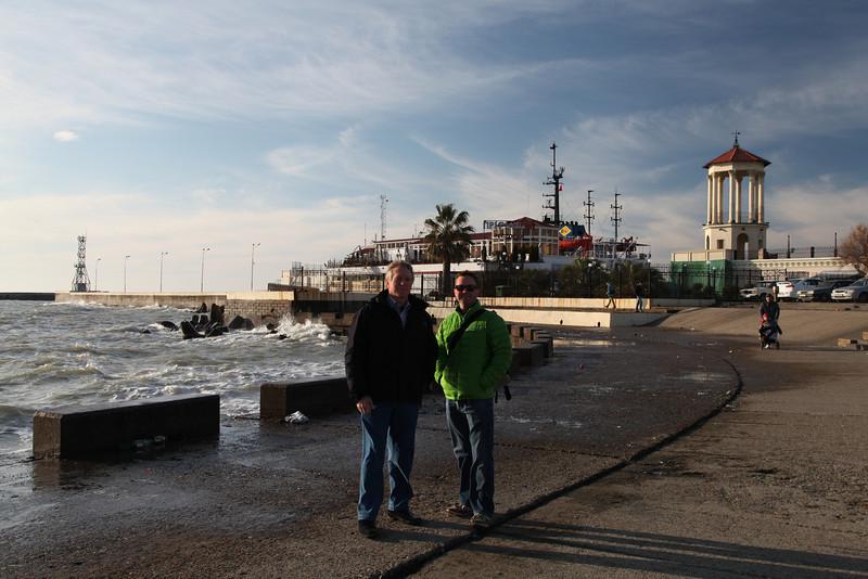 Family portrait. The edge of the Black Sea, Sochi, Russia.