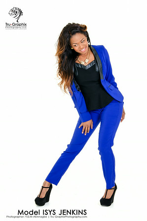 Model: Isys Jenkins - Electric Blue Suit