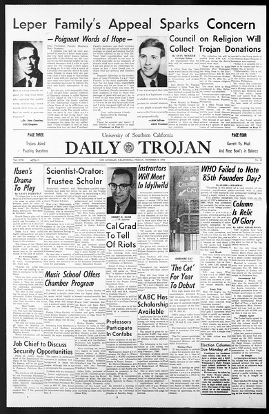 Daily Trojan, Vol. 57, No. 15, October 08, 1965