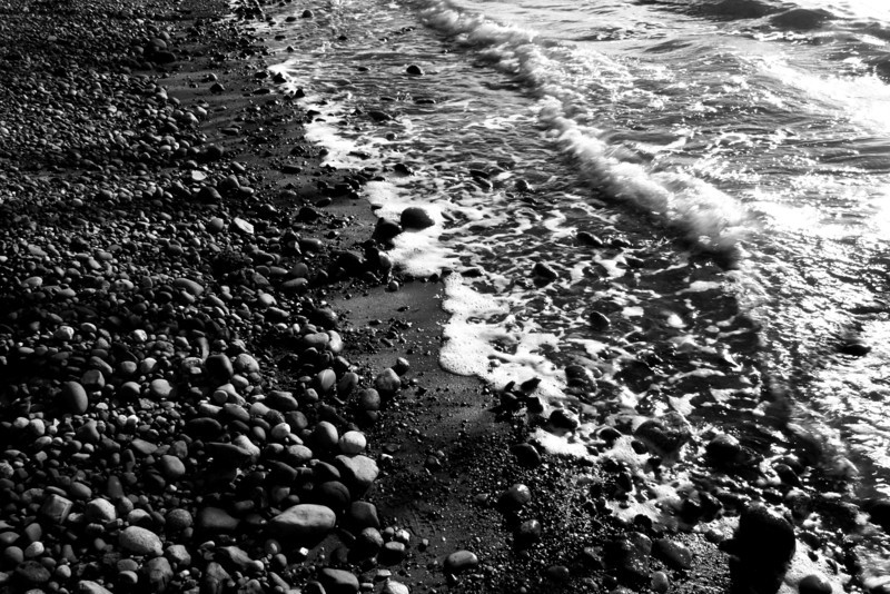 080221-016BW (Abstract; Rocks, Beach, Tide).jpg