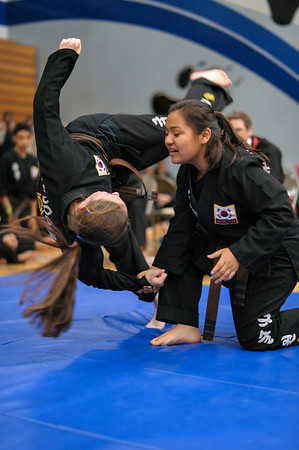Kids Brown Belt to First Dahn competing at the Kuk Sool Won Pacific Coast Tournament, Folsom, CA.  2014-04-05