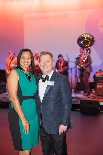 Angie Gates, Doug Yeuell, Atlas Performing Arts Center, Destination Atlas Party for a Purpose Gala, October 6, 2017. Photo by Ben Droz.