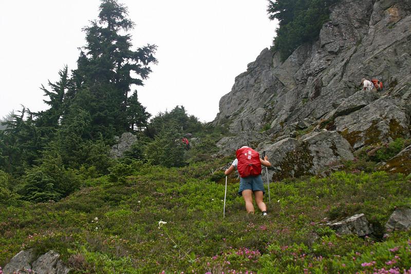 Kinda steep gully