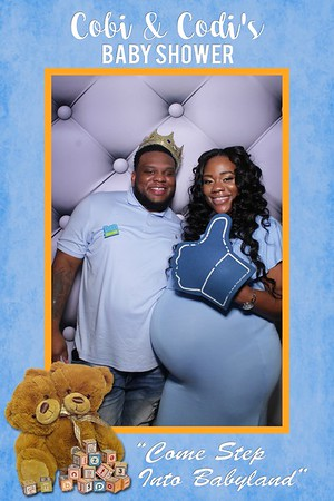 Cobi and Codi Carter Baby Shower Mirror Booth at Forest Park District