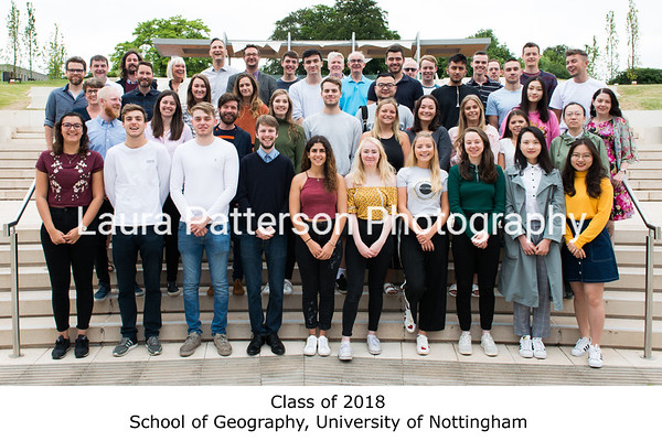 Class of 2018, School of Geography, University of Nottingham