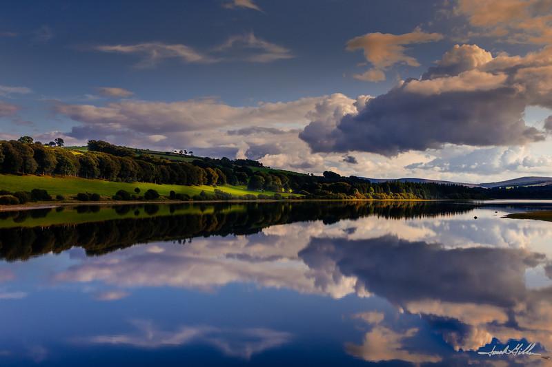 Reflectiion on Pollaphuca Reservoir, (Blessington Lakes)