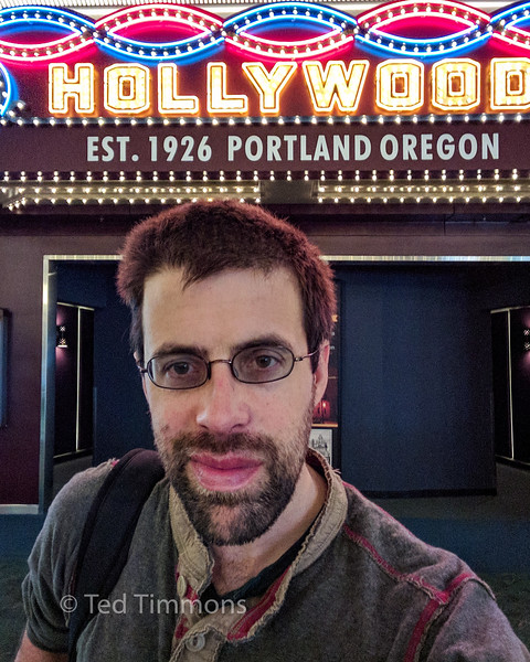 I was finally able to hang out in the PDX Airport Hollywood Theater and catch a couple of shorts. Timing has never worked out before.