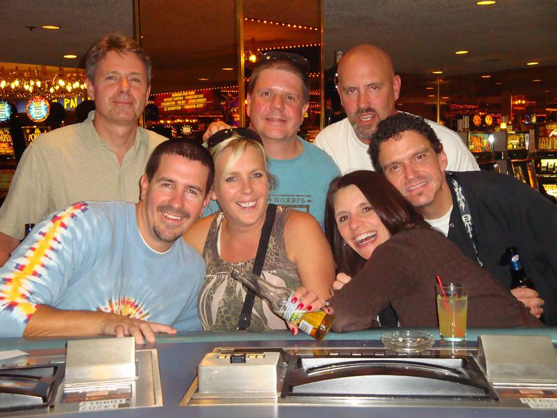 Me, Jeff, DebbiJo, Bill, Tammy, Tony and Jaime about 1:00 AM at the Flamingo.