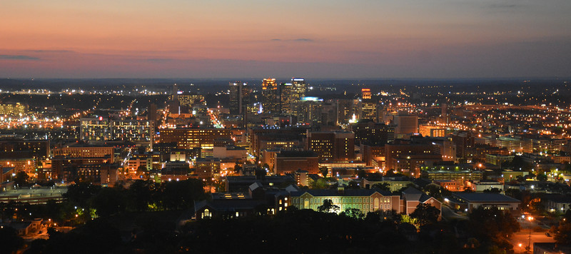 Birmingham Skyline at Night (Taken from Vulcan)