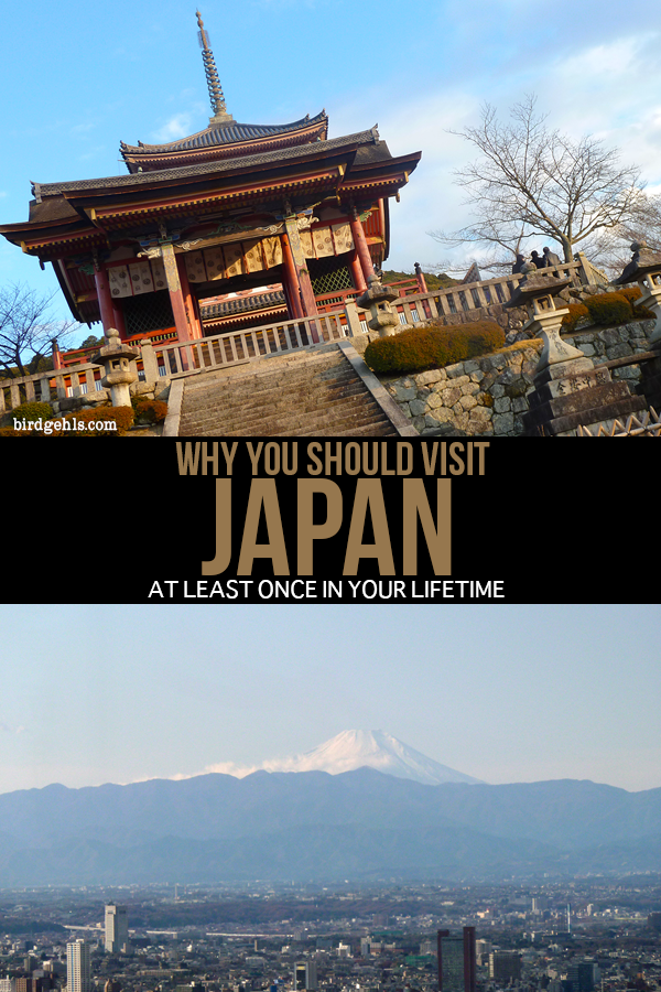 If you're going to visit anywhere during your time here on this Earth, it should be Japan. Why? It's clean, safe, quirky, the food is out of this world and it feels a bit like travelling to the future. / #Japan / #TravelTips / Why Visit Japan? /