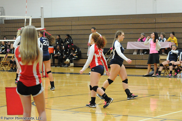JV Volleyball Action