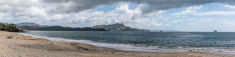 Blick von der Flaxmill Bay in die Matapaua Bay