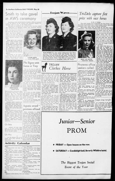 Daily Trojan, Vol. 36, No. 131, May 28, 1945