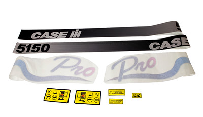 CASE IH 5150 PRO SERIES BONNET DECAL SET