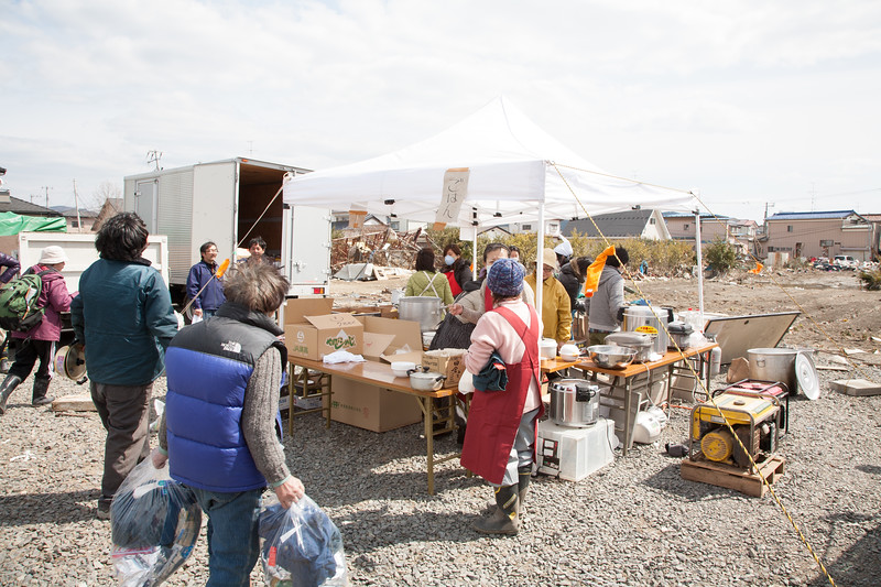 The cooking tent and what became a improvised but functioning filed kitchen.