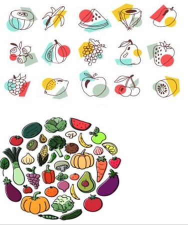 (L59) Fruit SIlhouettes