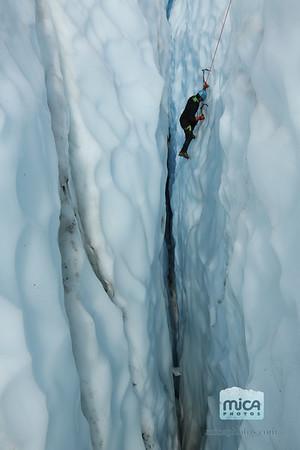 Ice Climbing with Brett and Scott