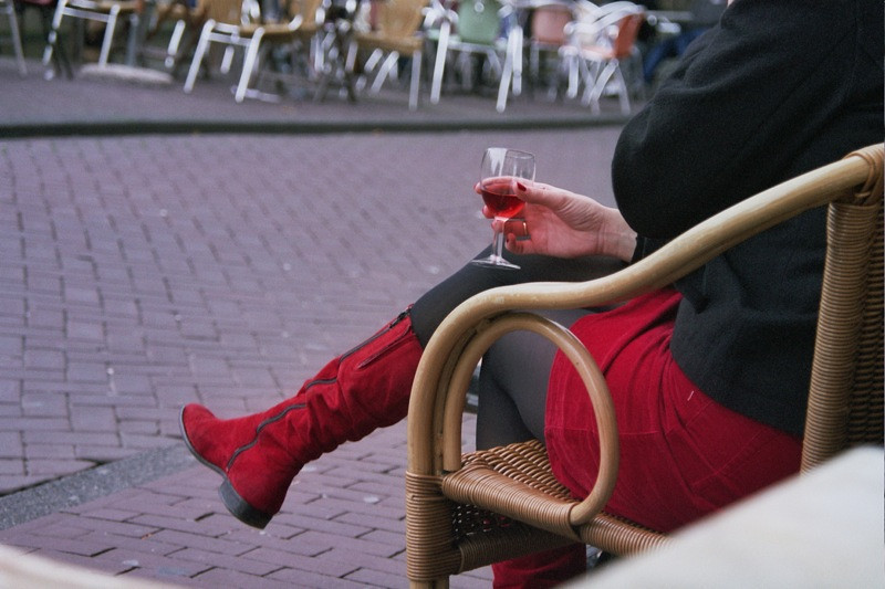 Red Wine and Red Boots - Amsterdam, Netherlands