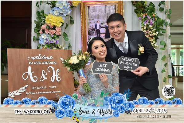 Agnes dan Harry Wedding Photobooth Gallery