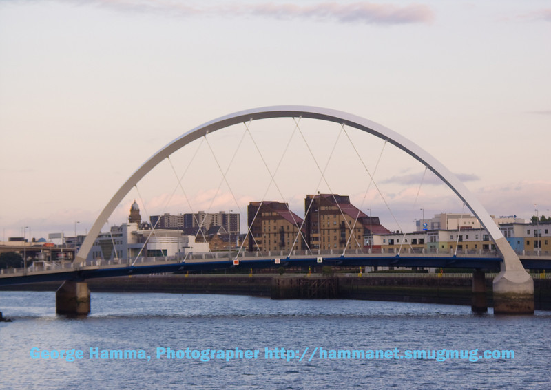 The Clyude Arc bridge over the River Clyde near the university.
