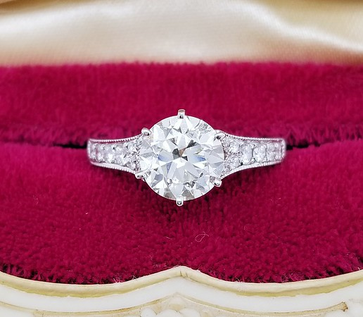 1.78ct Transitional Cut Diamond Ring - GIA M, VS2