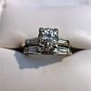 2.00ctw Antique Cushion Cut Diamond Wedding Set, GIA J VS1 19