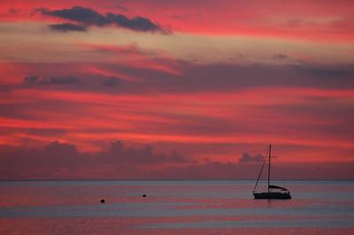 Sunset, Beau Vallon, Mahe, Seychelles