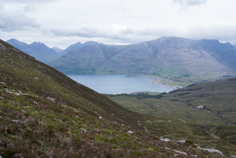View of Loch Torridon and where we began this hike.