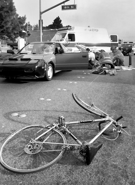 Bike vs Car Traffic Accident
