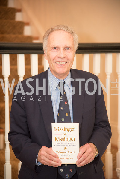"Amb. Winston Lord, Book Party with Ambassador Winston Lord, ""Kissinger on Kissinger"", and Jim Sciutto, ""The Shadow War"", at the home of Juleanna Glover and Christopher Reiter.  Summer 2019, Photo by Ben Droz."