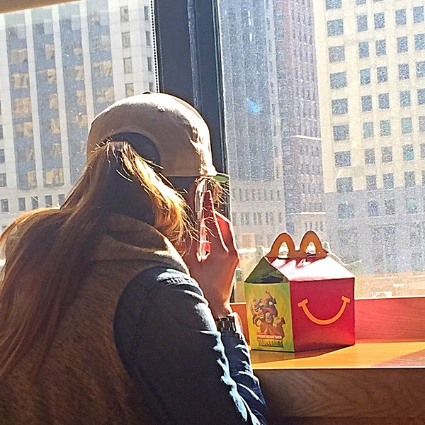 Good news @mcdonalds -- here's a millennial with a happy meal! Your marketing is working!