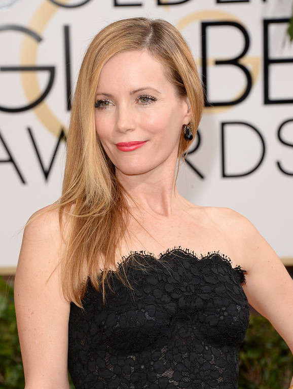 . Actress Leslie Mann attends the 71st Annual Golden Globe Awards held at The Beverly Hilton Hotel on January 12, 2014 in Beverly Hills, California.  (Photo by Jason Merritt/Getty Images)