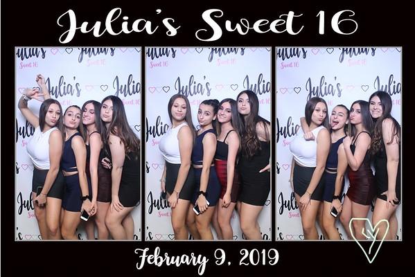 Julia's Sweet 16 - February 9th 2019