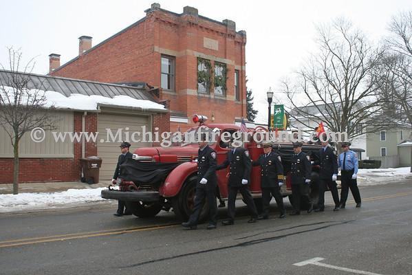 1/5/13 - Leslie Asst Fire Chief Scott Dunsmore funeral procession