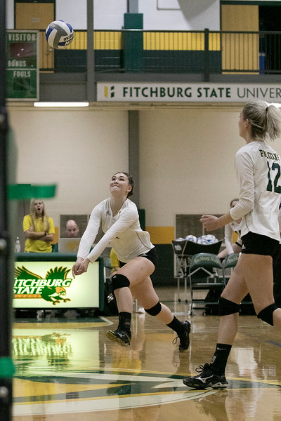 Fitchburg State University played Bay Path College on Saturday, August 31, 2019. FSU's Kathryn NewComb chases down the ball. SENTINEL & ENTERPRISE/JOHN LOVE