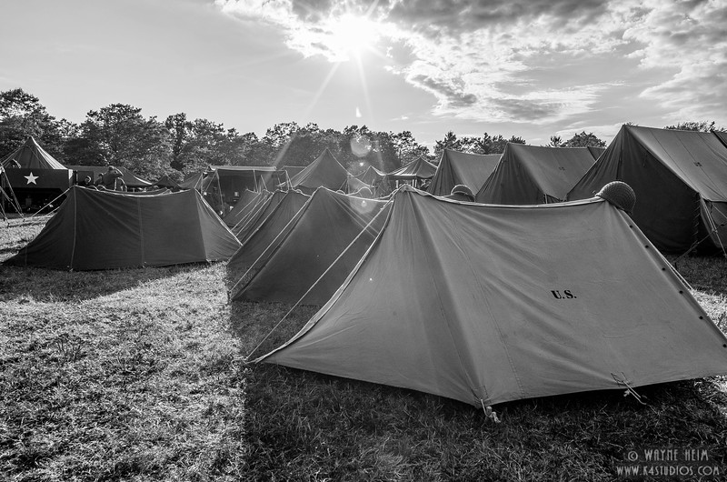 Camp in the Morning   Black & White Photography by Wayne Heim