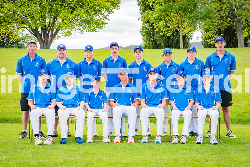 Southland Country Cricket Rep Team at the U15 Boys District Tournament, 17 - 19 December 2018,Team Photos at Molyneux Park in Alexandra, New Zealand.  18 December 2018. Copyright images Clare Toia-Bailey / image-central.co.nz