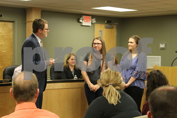 School Board Honors Teachers of the Year - April 2016