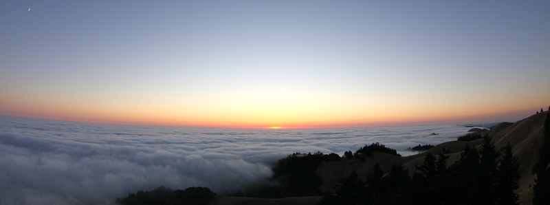 Sunset above Mt Tam in Marin